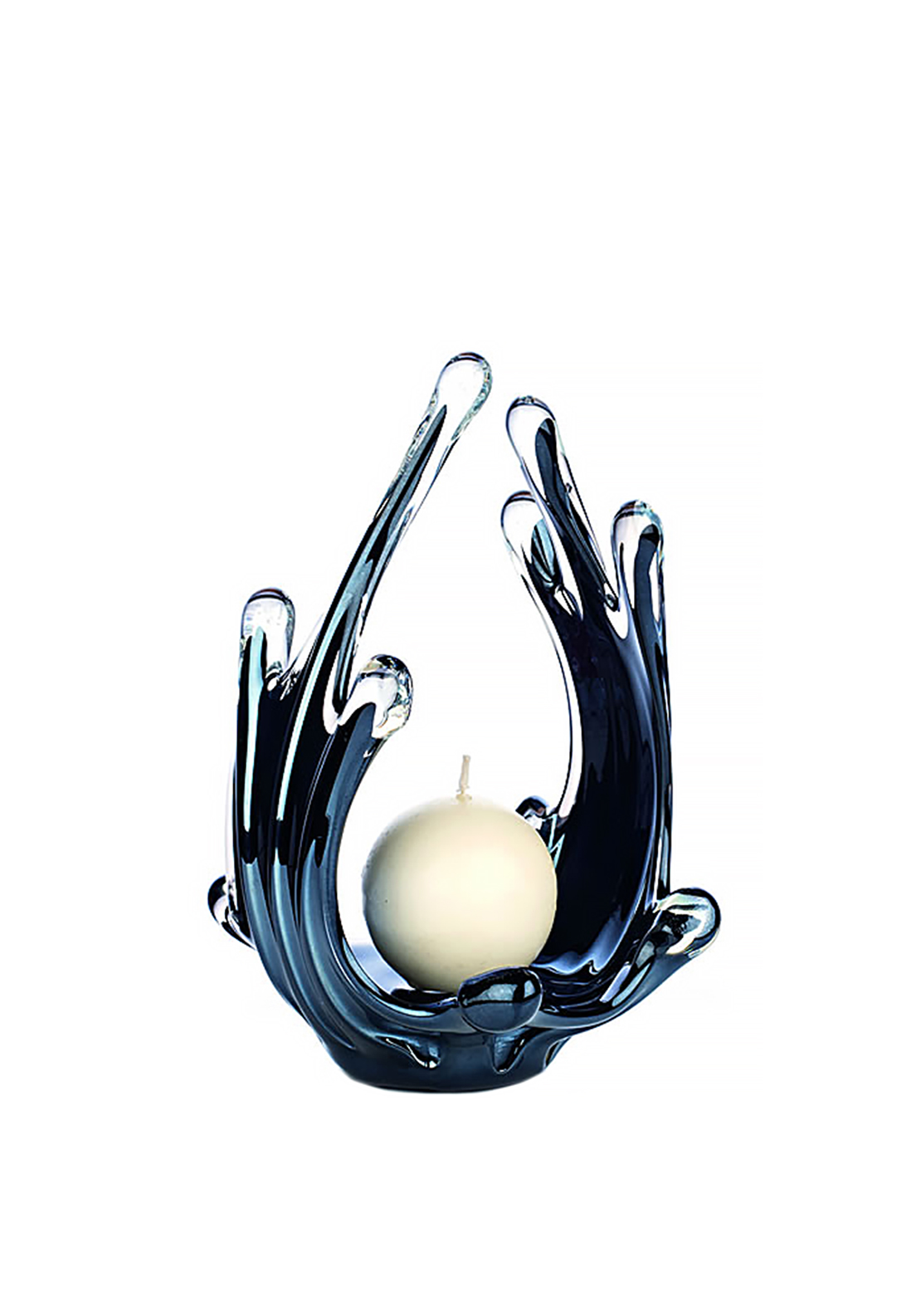 Newgrange Living Black Lustre Loop Ball Candle Holder, Black