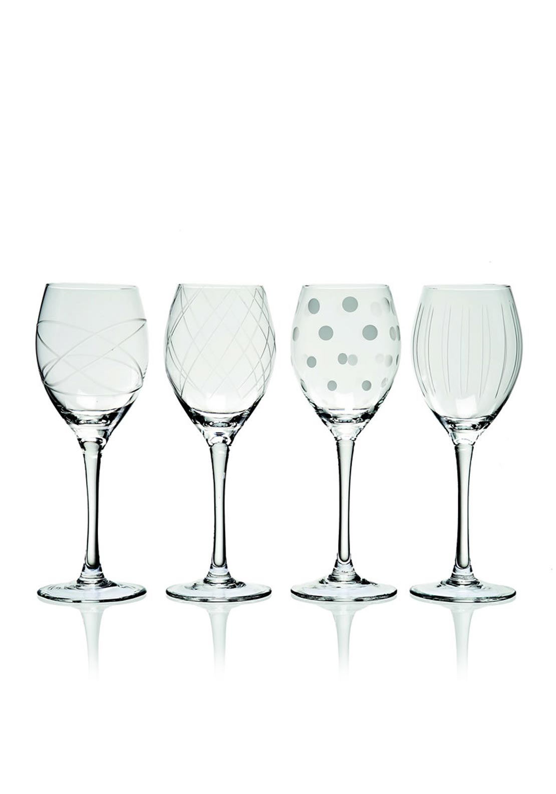 Newgrange Living Clear Cut Party Wine Glasses, Set of 4