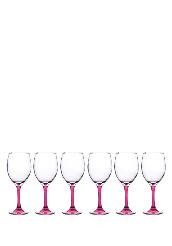 Newgrange Living Vienna Wine Glasses, Set of 6, Pink