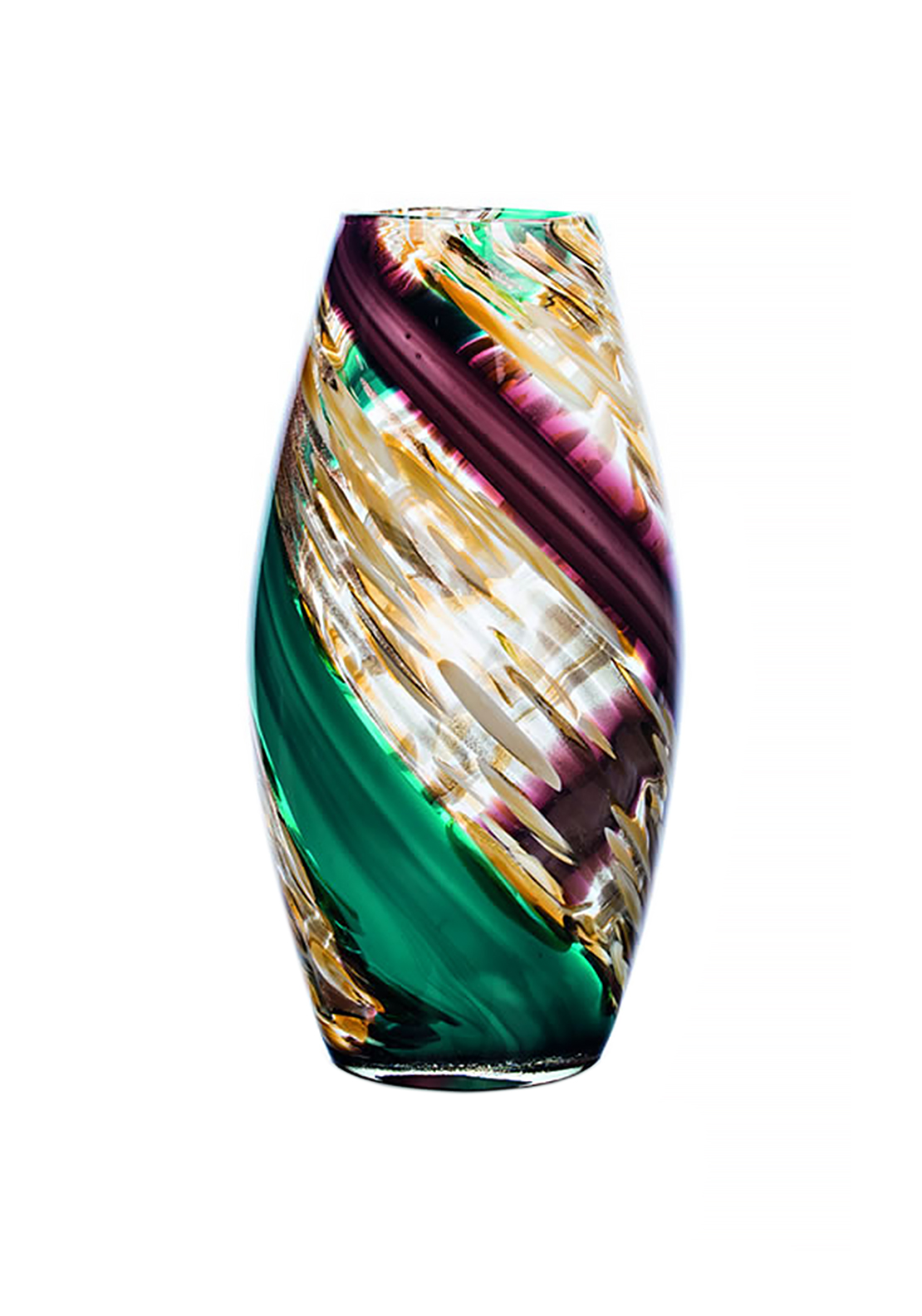 Newgrange Living Purple Teal Oval Vase, Multi