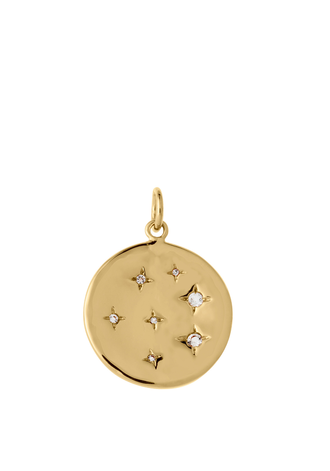 Kirstin Ash Constellation Circle Necklace Charm, Gold Plated