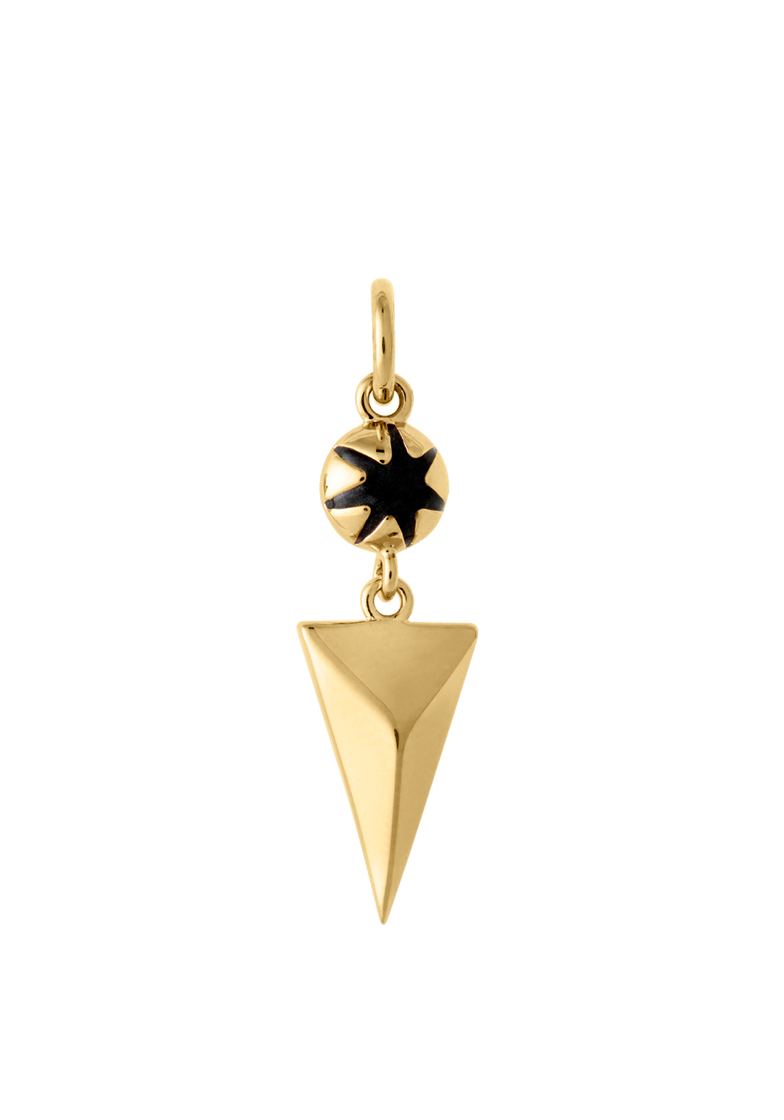 Kirstin Ash Faceted Triangle Drop Necklace Charm, Gold Plated