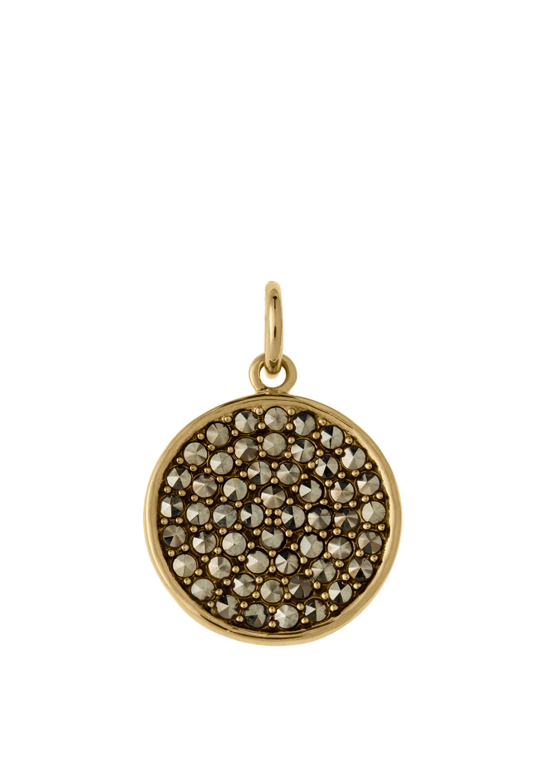 Kirstin Ash Gem Studded Circle Marcasite, Gold Plated