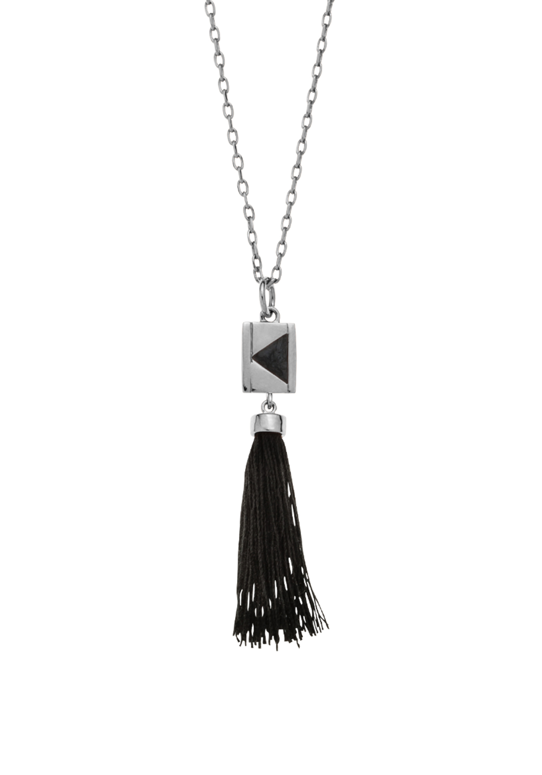 Kirstin Ash Rectangle Tassel, Silver Plated