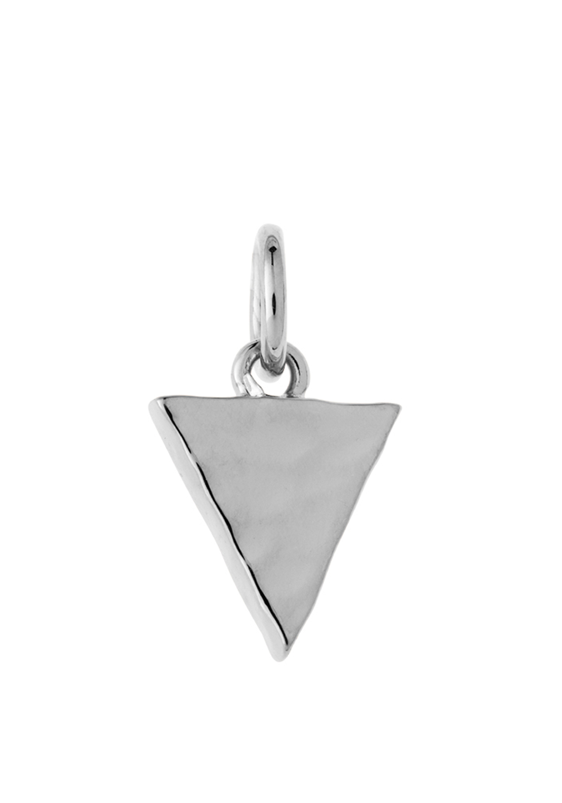 Kirstin Ash Tiny Triangle Necklace Charm, Silver Plated