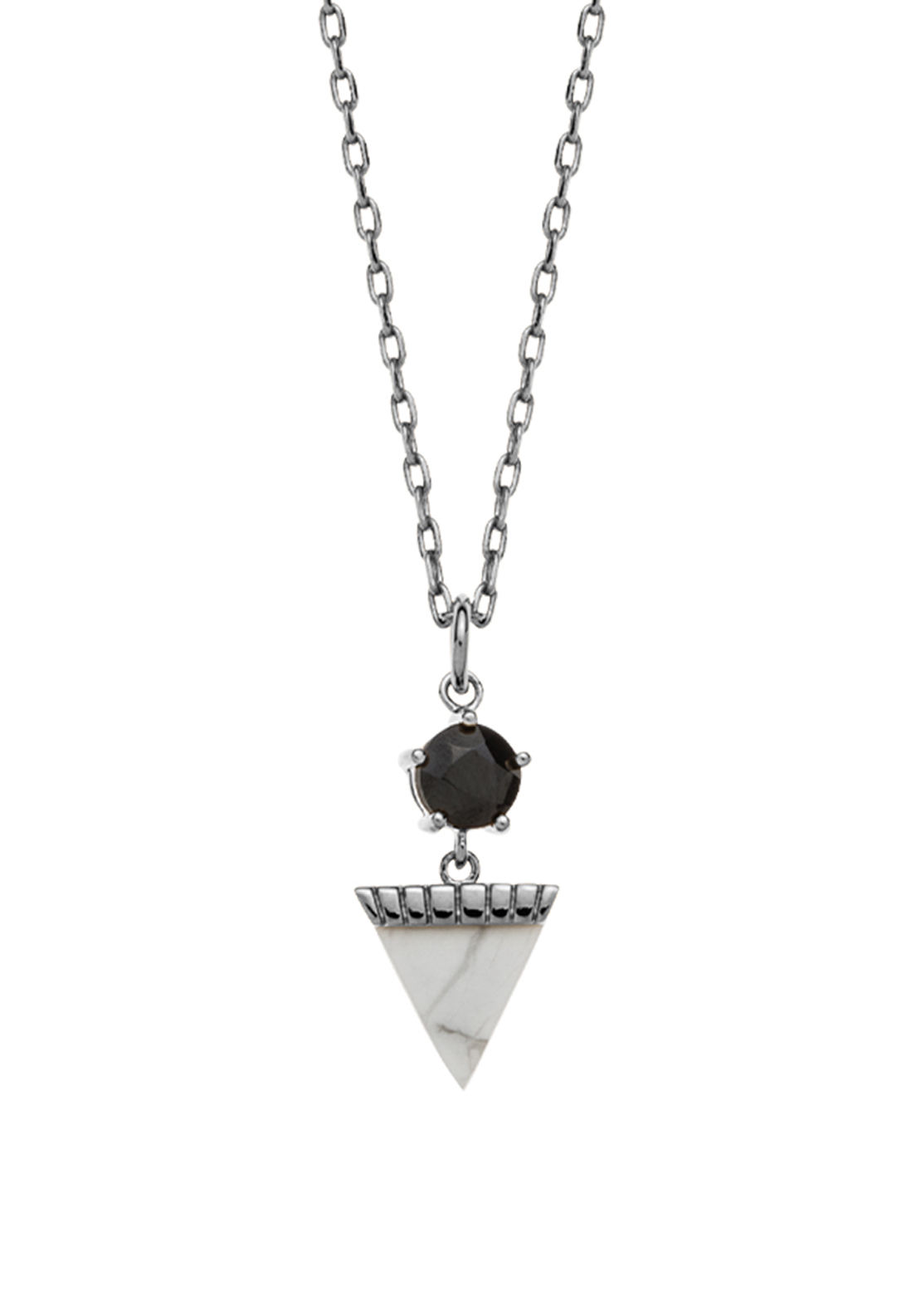 Kirstin Ash Triangle Drop Howlite Necklace Charm, Sterling Silver