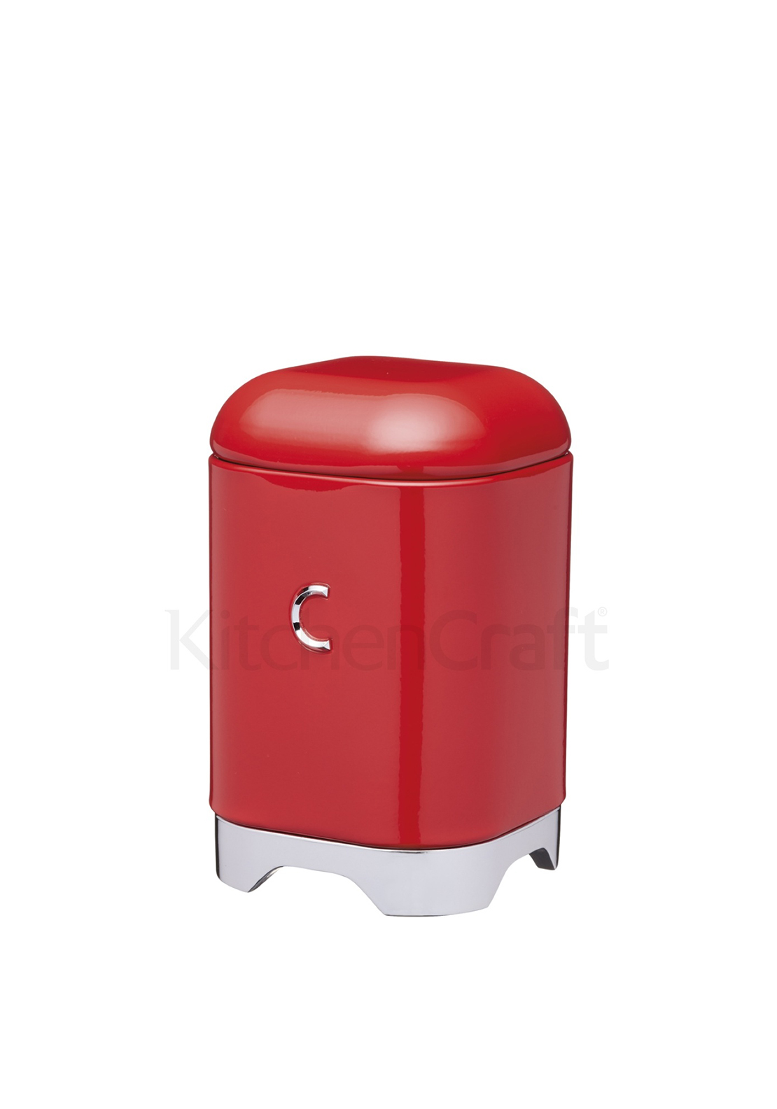 Lovello Scarlet Coffee Tin 11 x 11 x 18cm - Steel