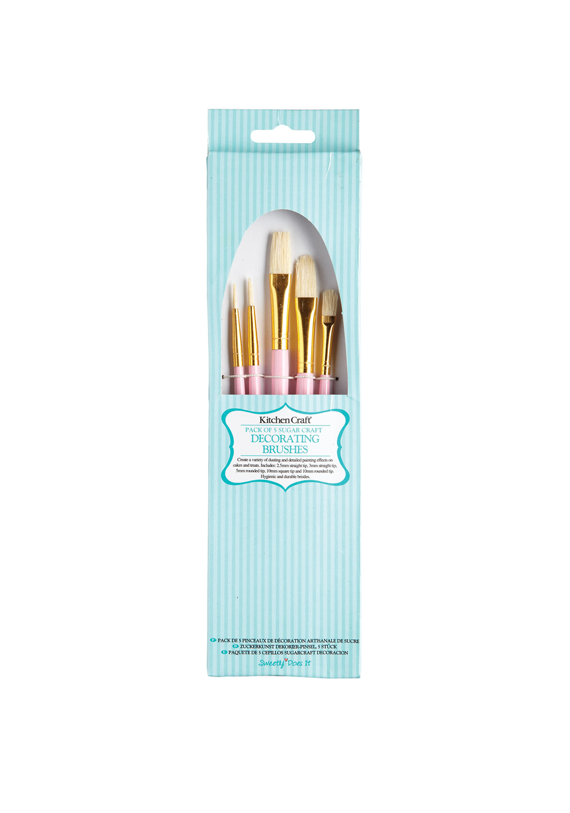 Kitchen Craft Pack of 5 Sugar Craft Decorating Brushes