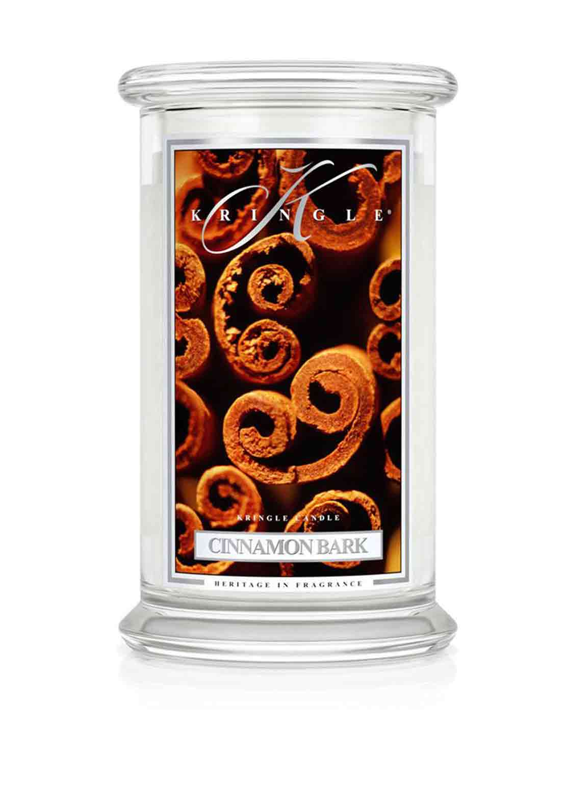 Kringle Candle Cinnamon Bark Large Two Wick Scented Candle Jar