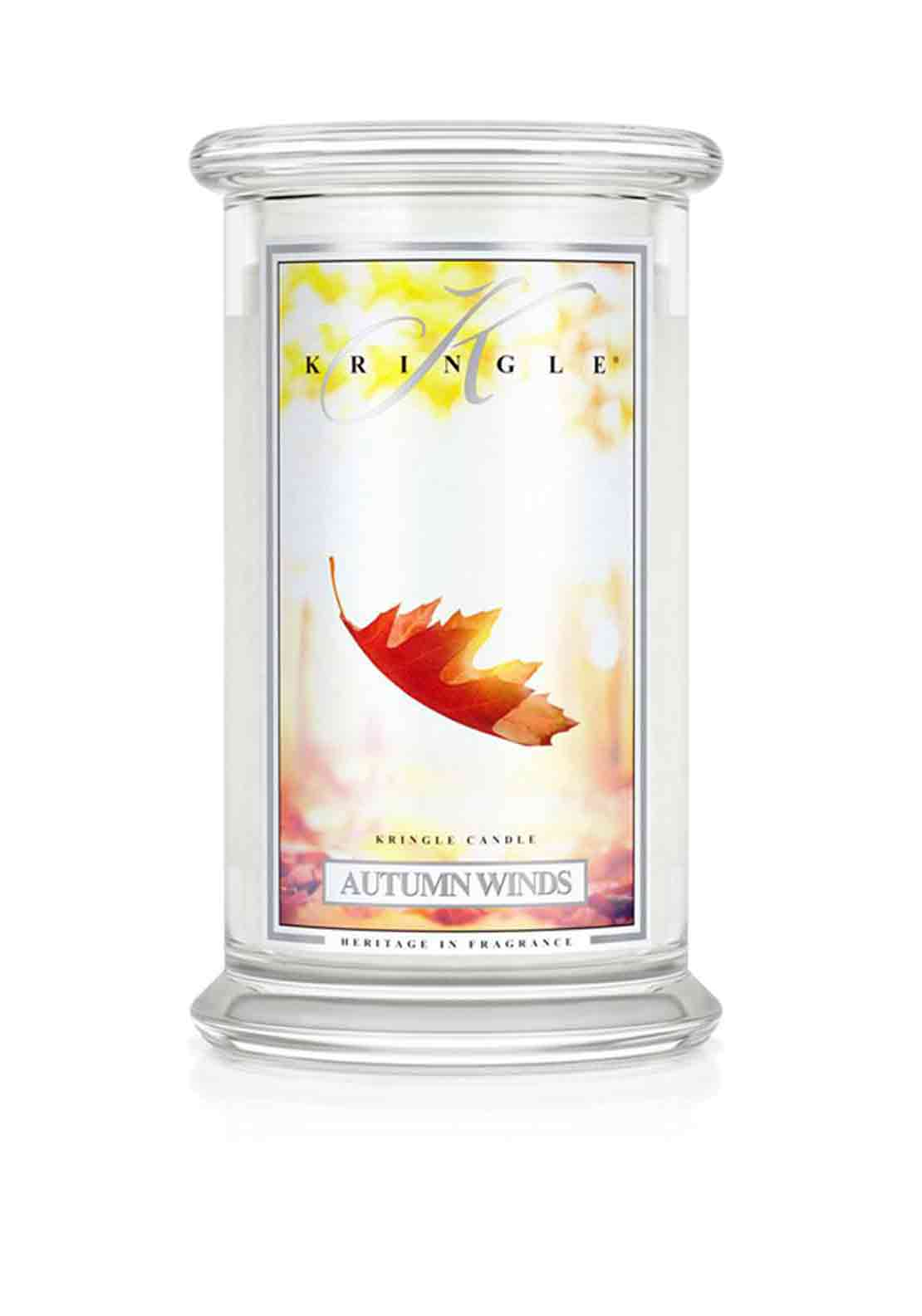 Kringle Candle Autumn Winds Large Two Wick Scented Candle Jar
