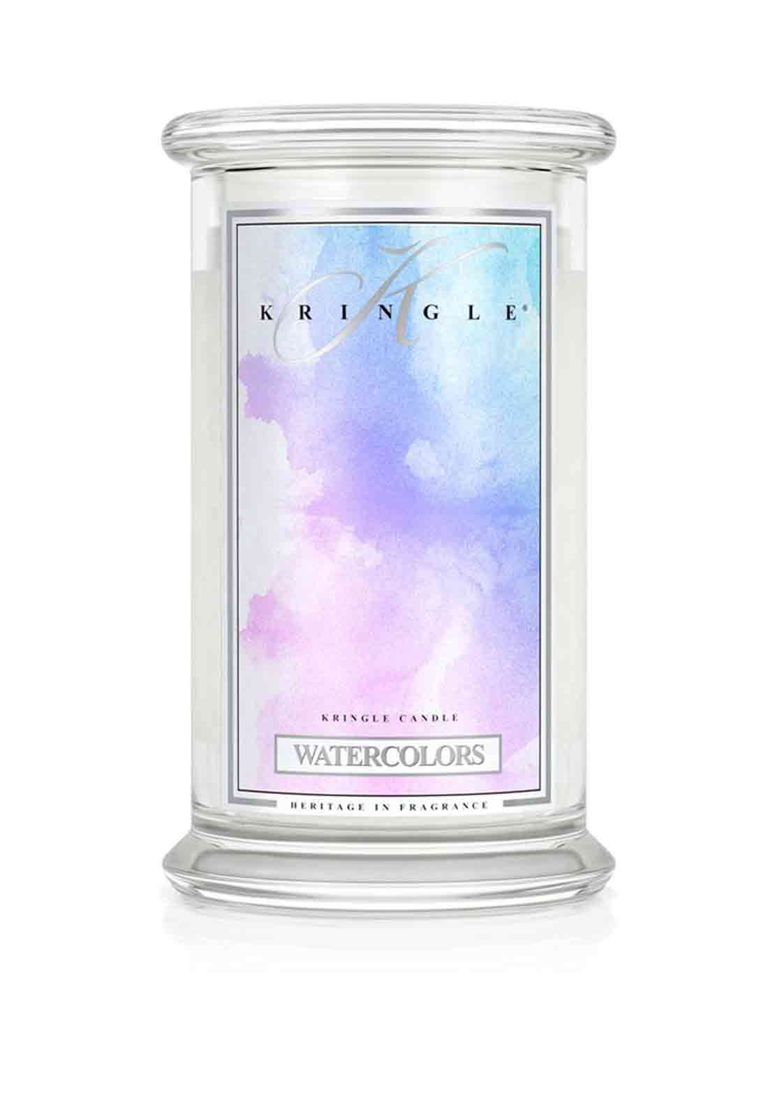 Kringle Candle Watercolours Large Two Wick Scented Candle Jar