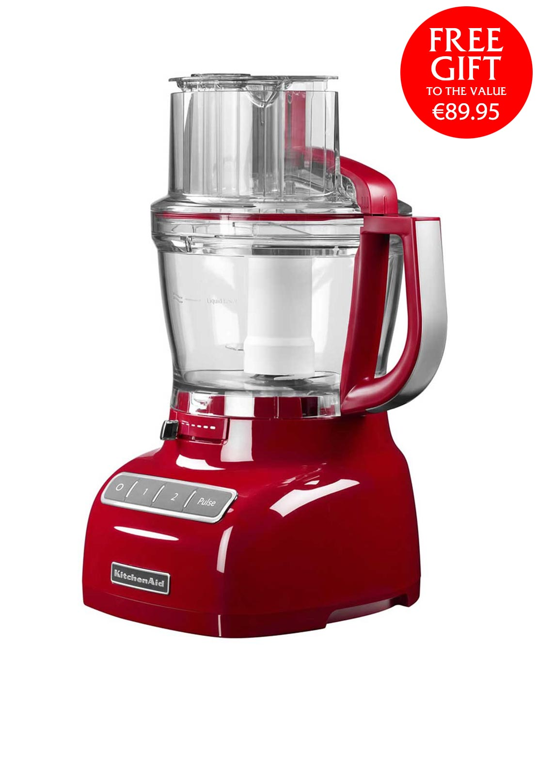 KitchenAid 3.1 Litre Food Processor, Empire Red