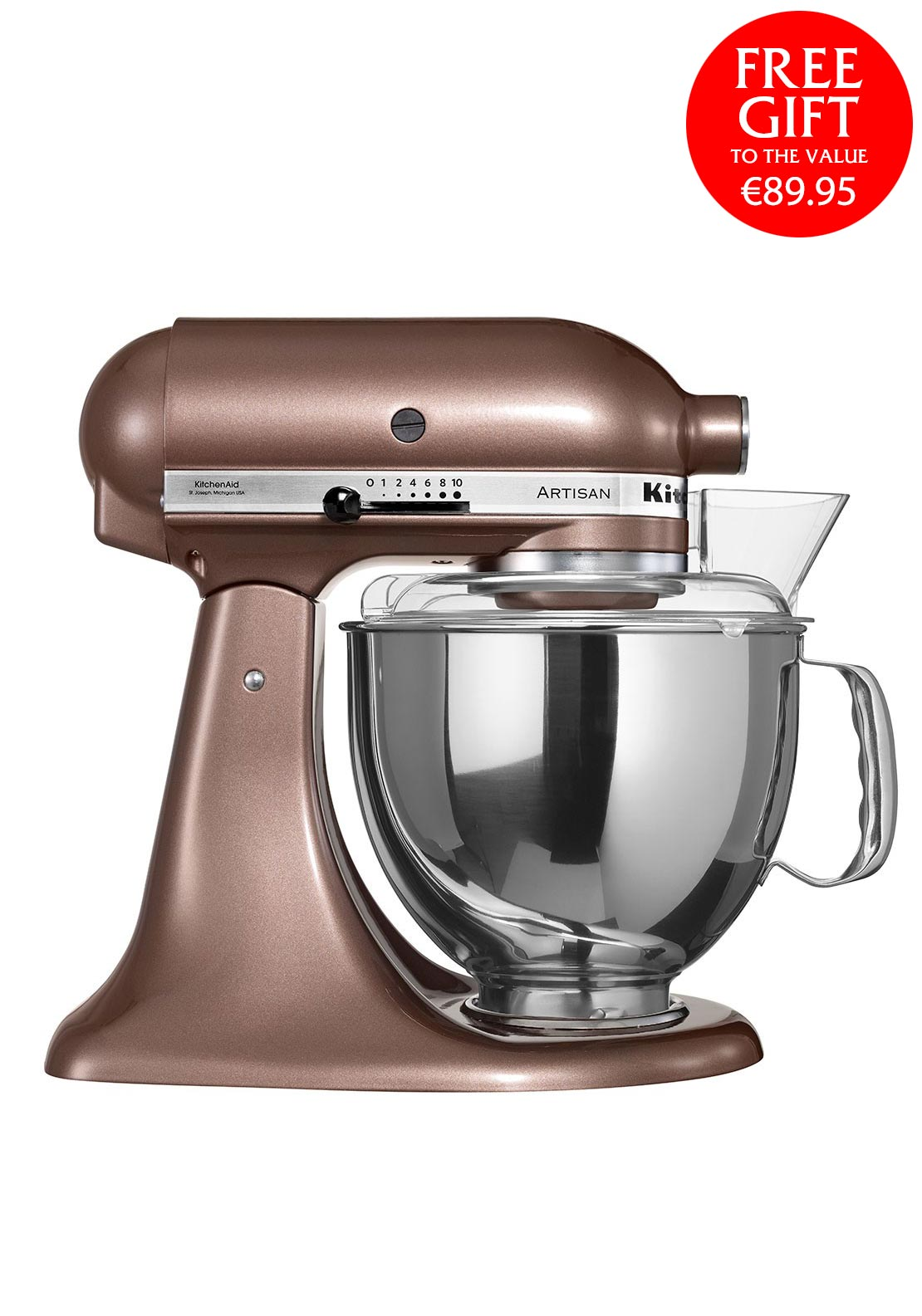 KitchenAid Artisan Tilt Head Stand Mixer, Apple Cider 4.8L