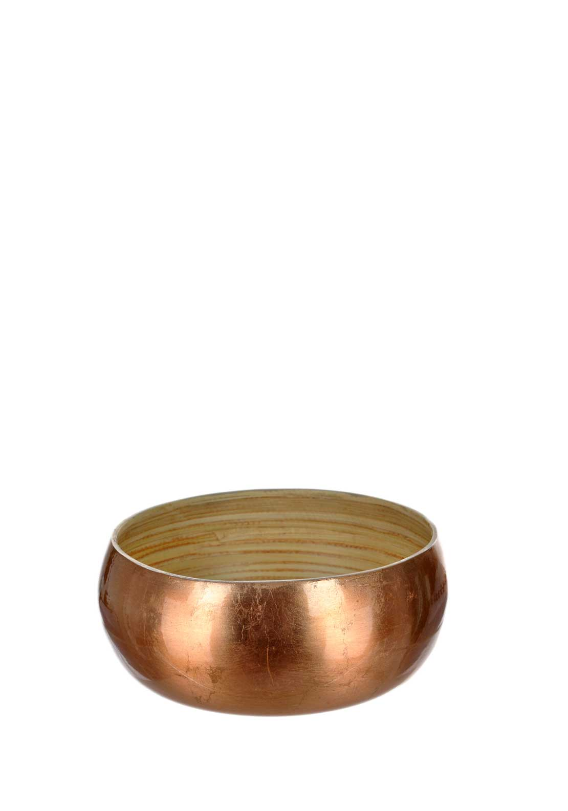 Kitchen Craft Masterclass Bamboo Medium Serving Bowl, Copper