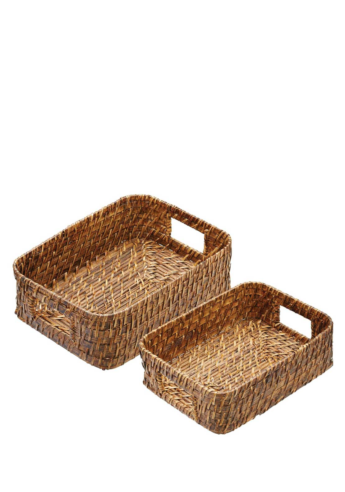 Kitchen Craft Masterclass Bamboo Serving Baskets, Set of 2