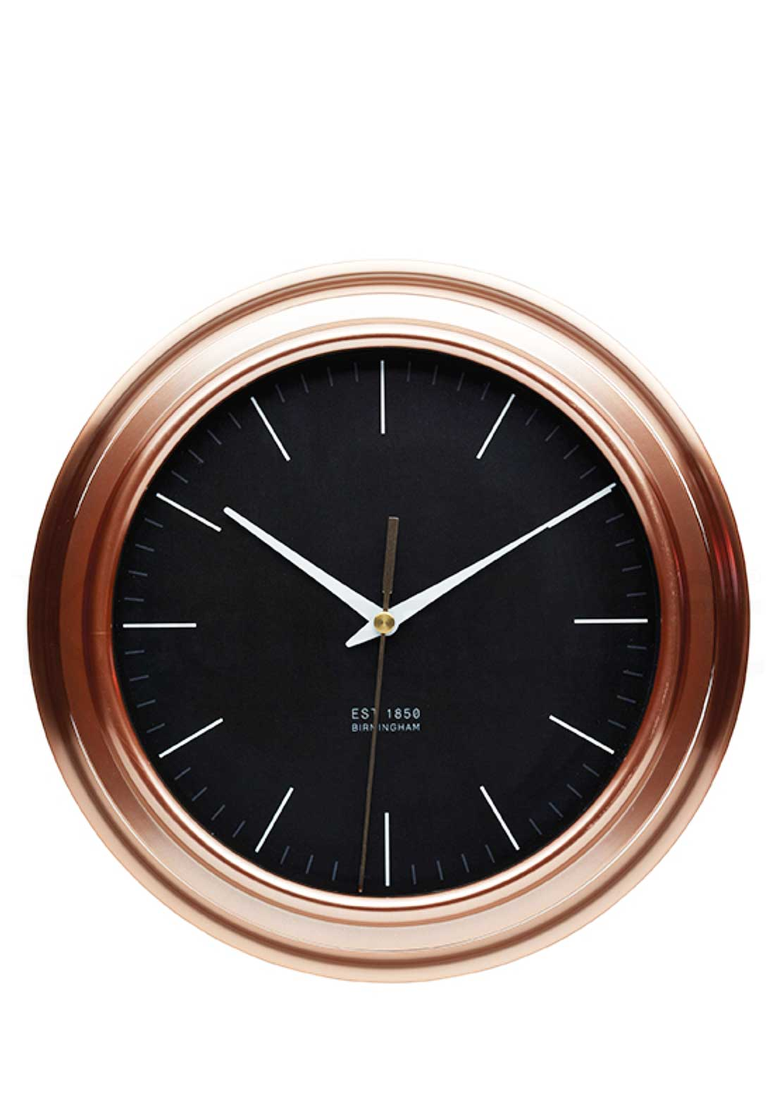 Kitchen Craft 25.5cm Copper Finish Kitchen Clock