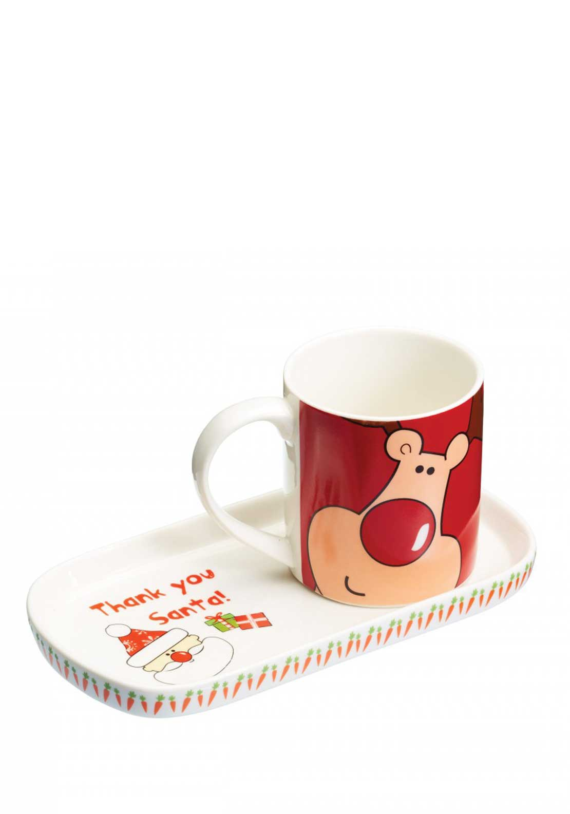 KitchenCraft Santa & Friends Christmas Mug & Cookie Tray Set