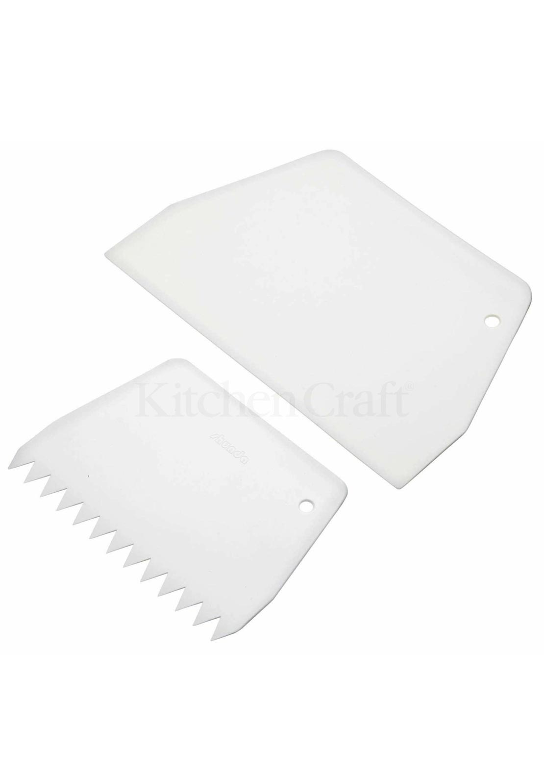 Kitchen Craft Pack of 2 Cake Scrapers