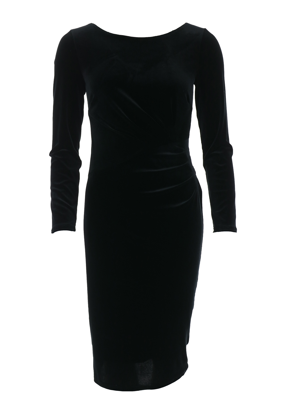 Boutique Velvet Pencil Dress, Black