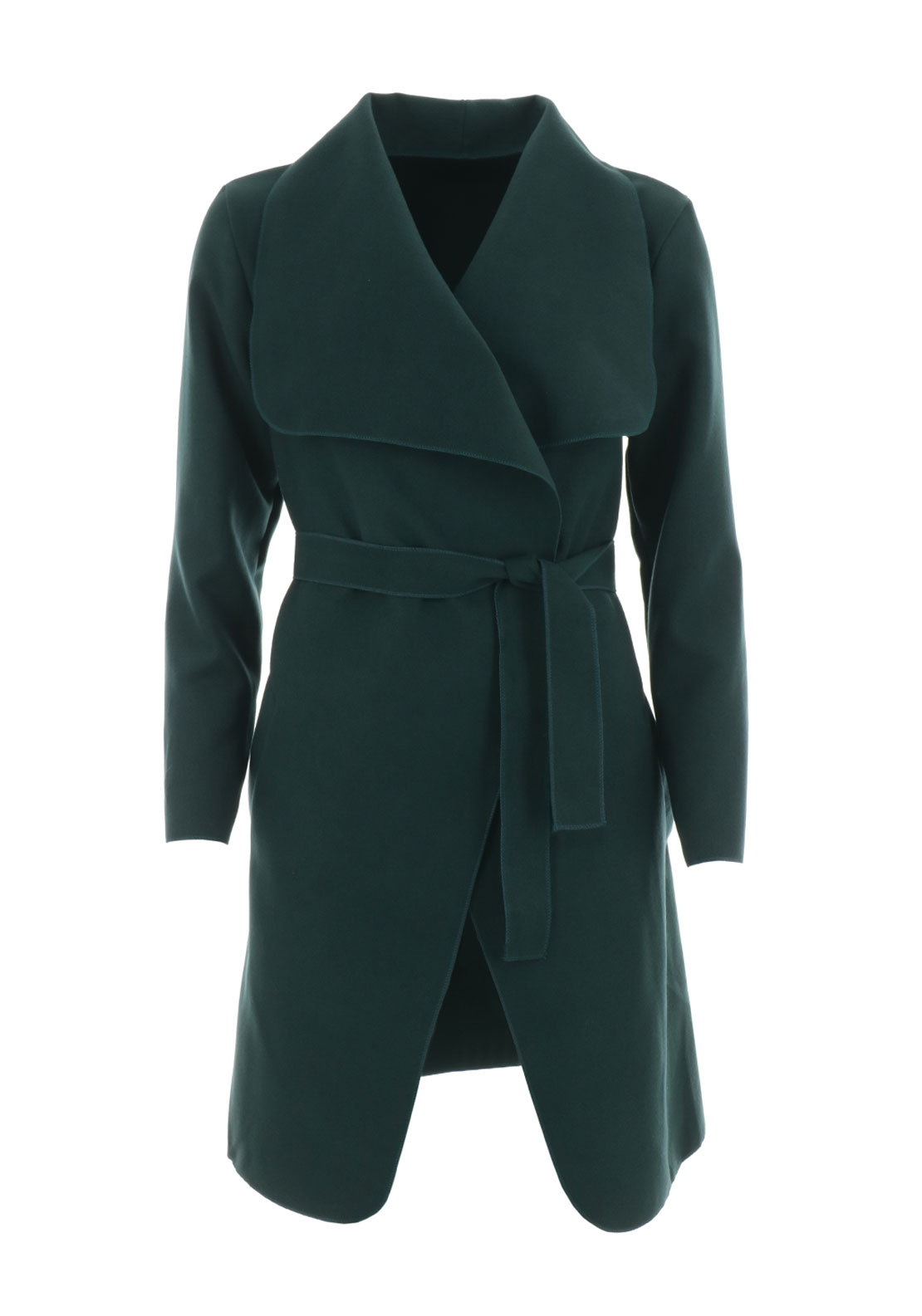 Boutique Wrap Over One Size Coat, Green