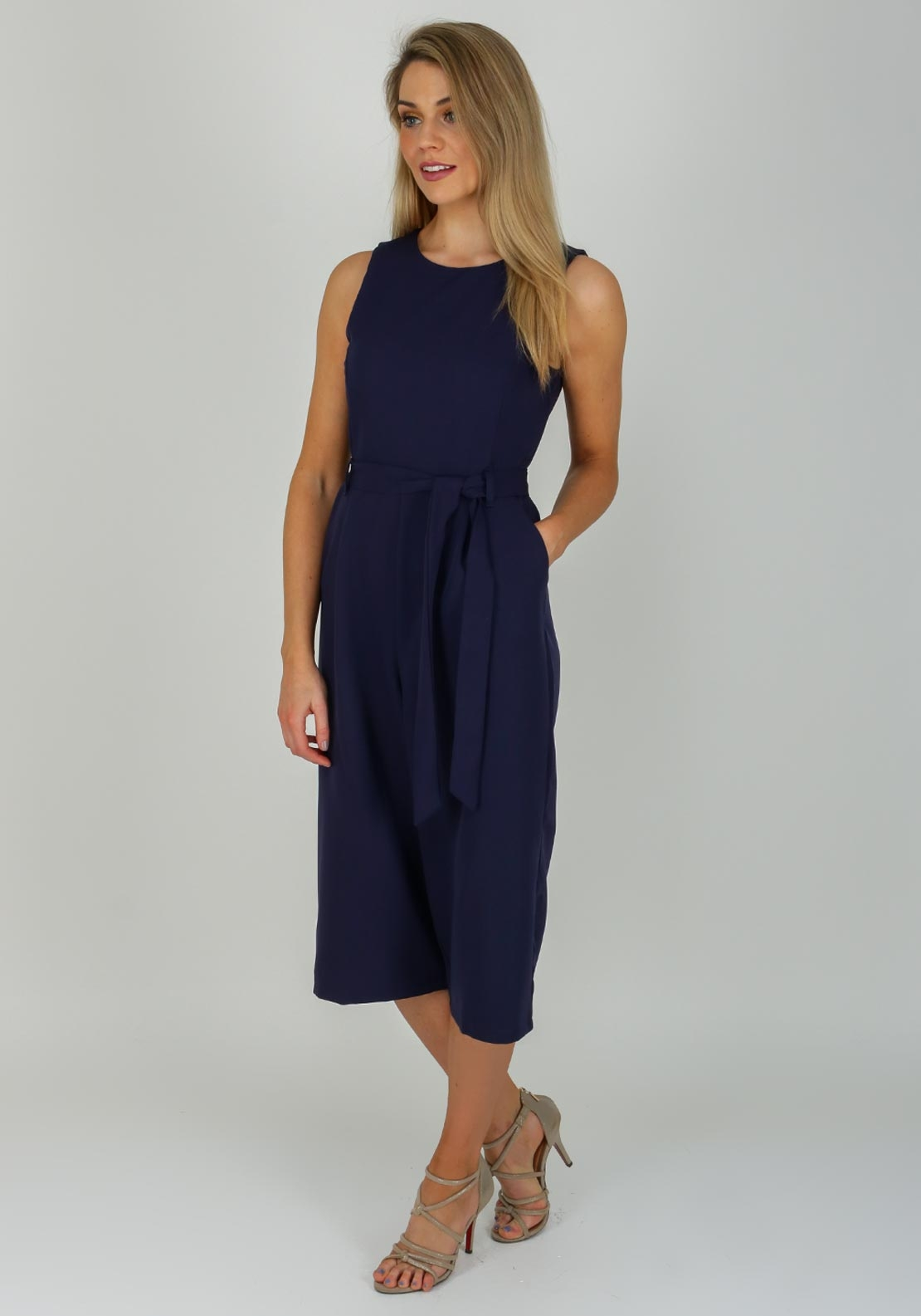 Boutique Culotte Jumpsuit, Navy
