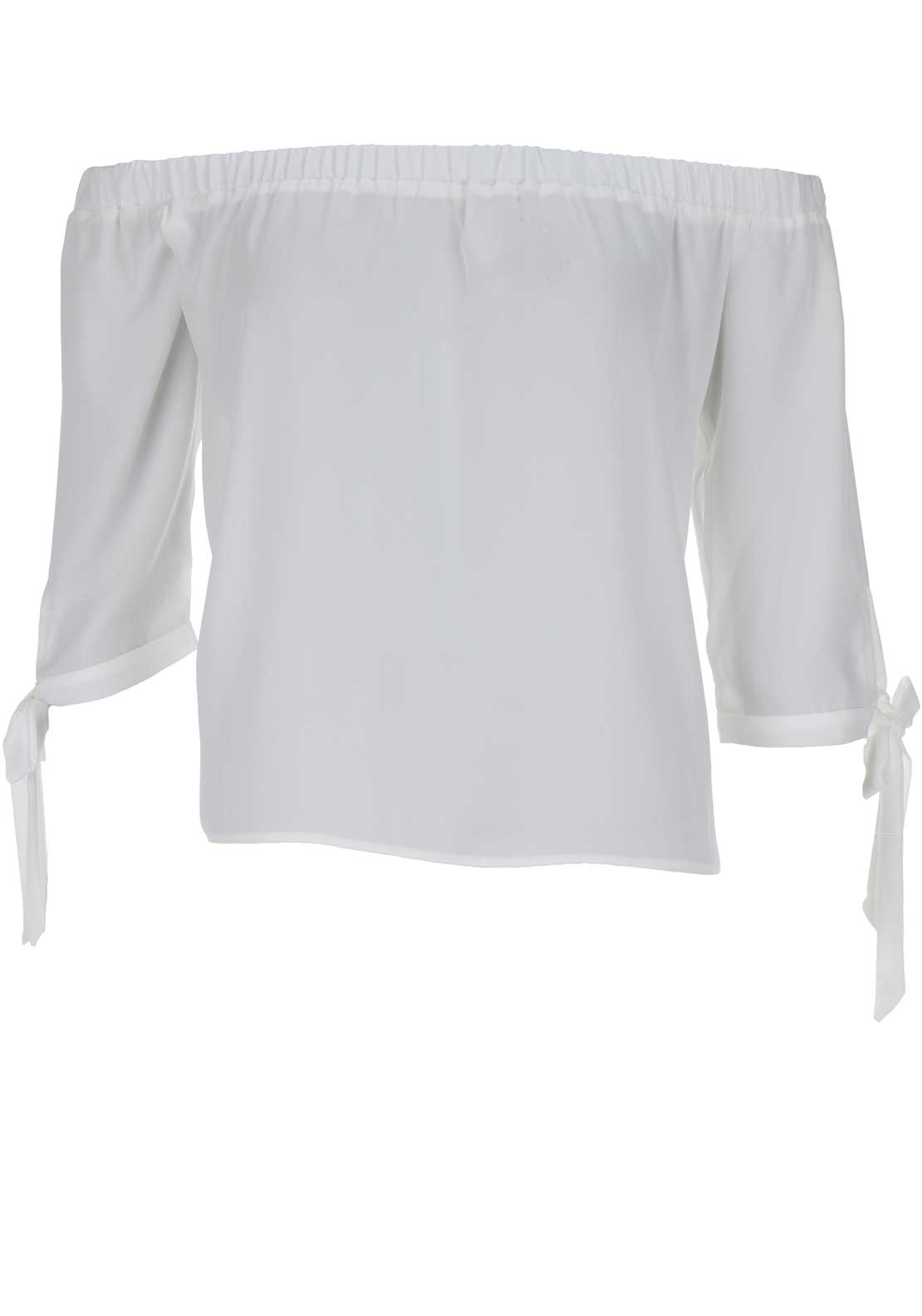 Boutique Off The Shoulder Top, White