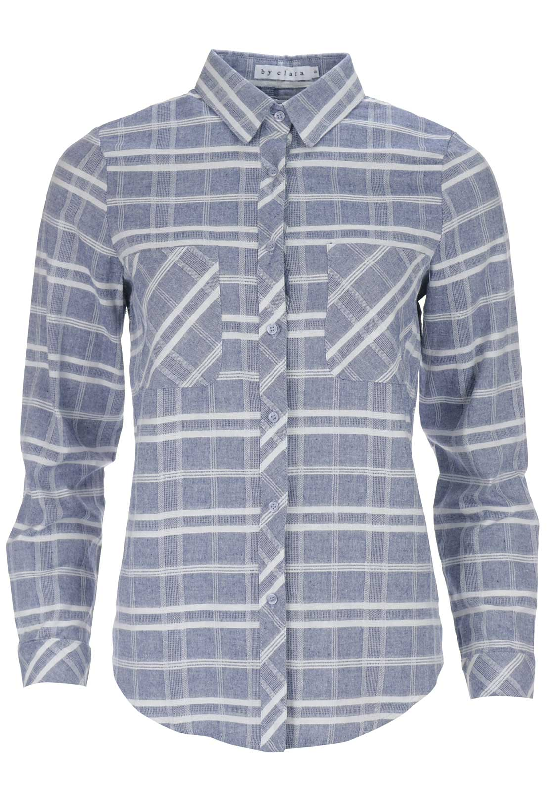 Boutique Woven Chequered Shirt, Blue