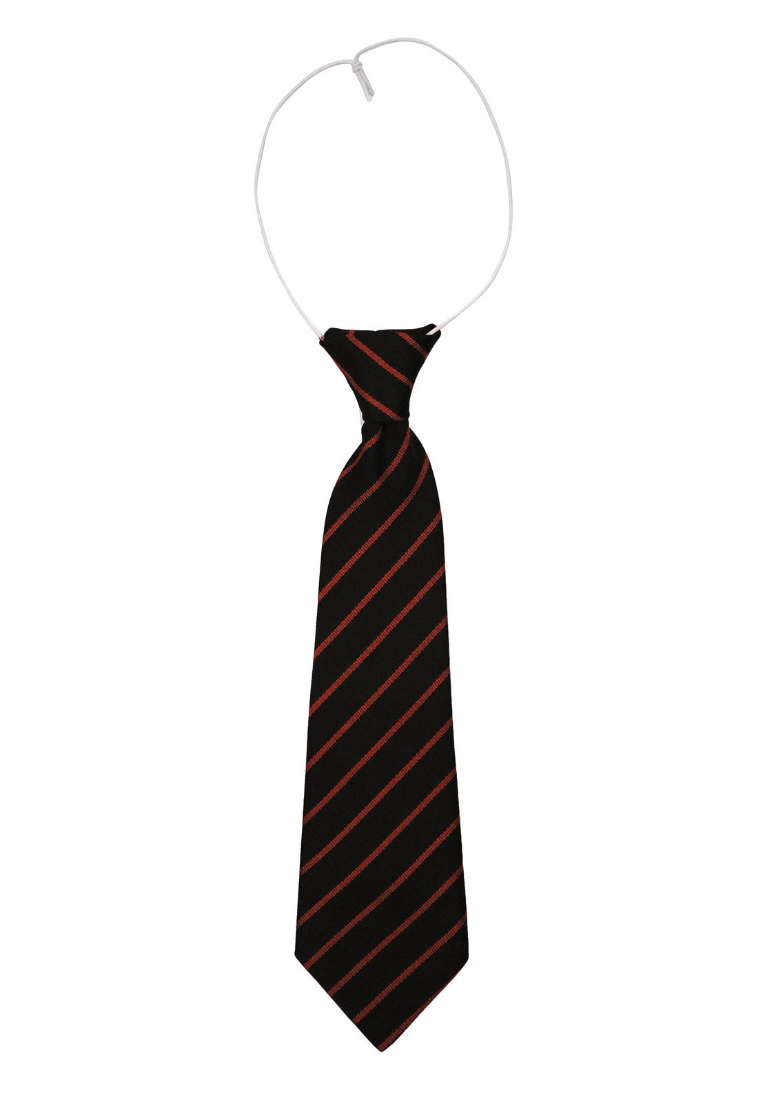 School Elastic Tie, Navy & Red