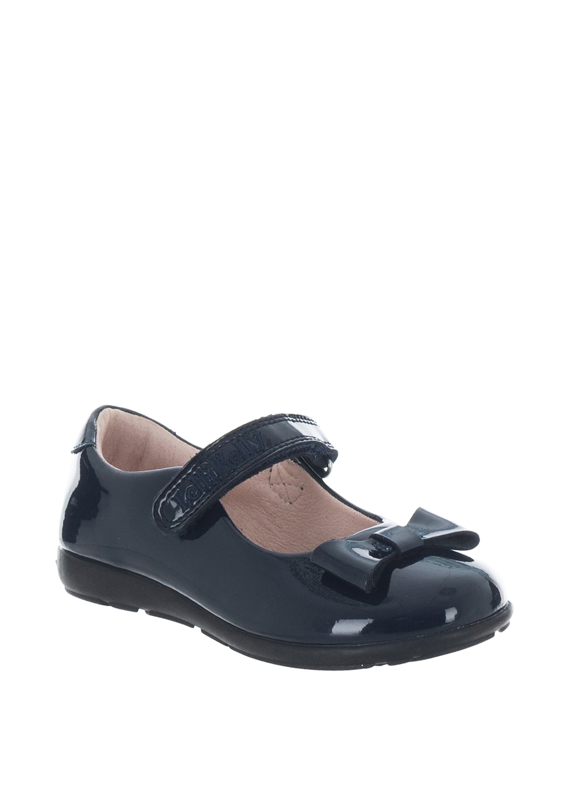 Lelli Kelly Leather Bow Patent Strap School Shoes, Navy