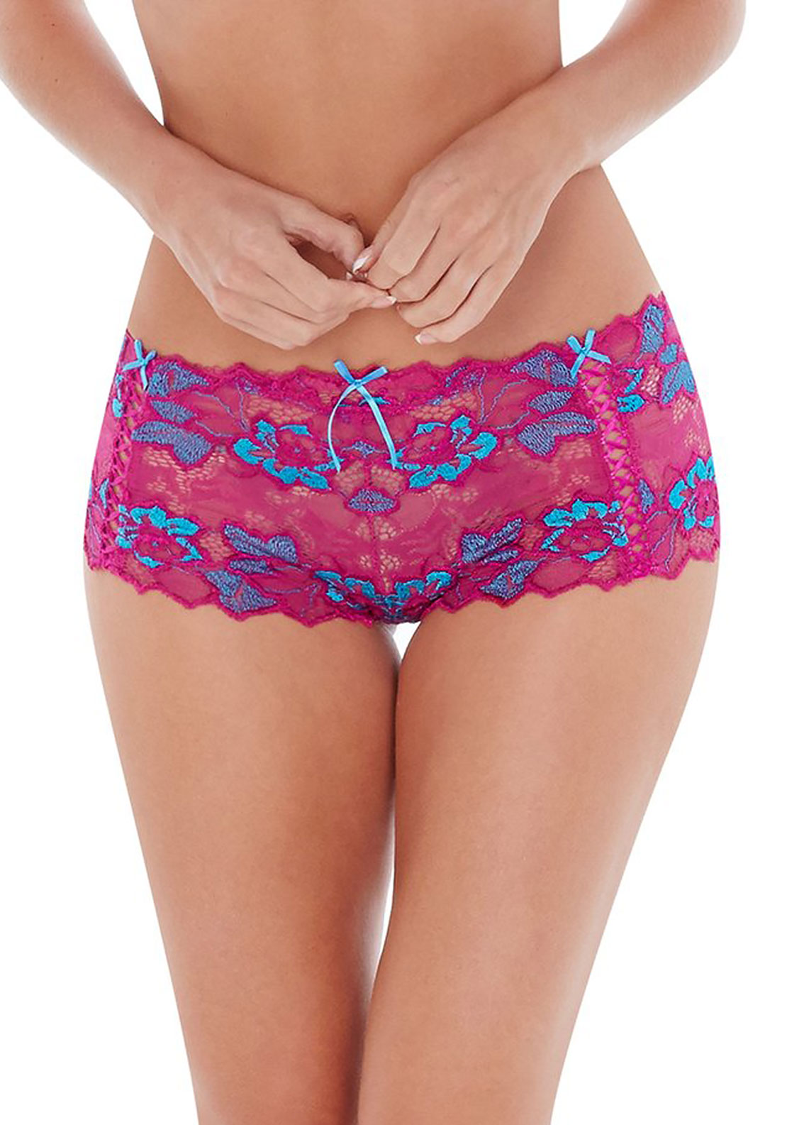 Lepel Fiore Shorty Brief, Fuschia Blue