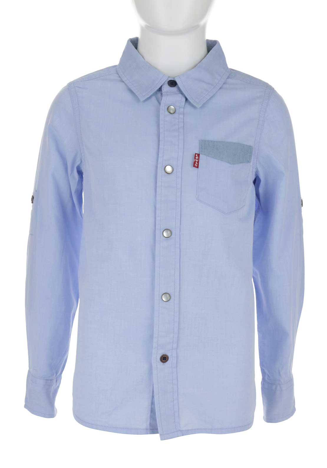 Levis Boys Cotton Shirt, Blue