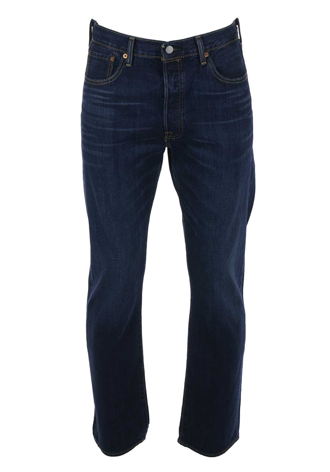 Levis Mens 501 Straight Leg Jeans, Blue