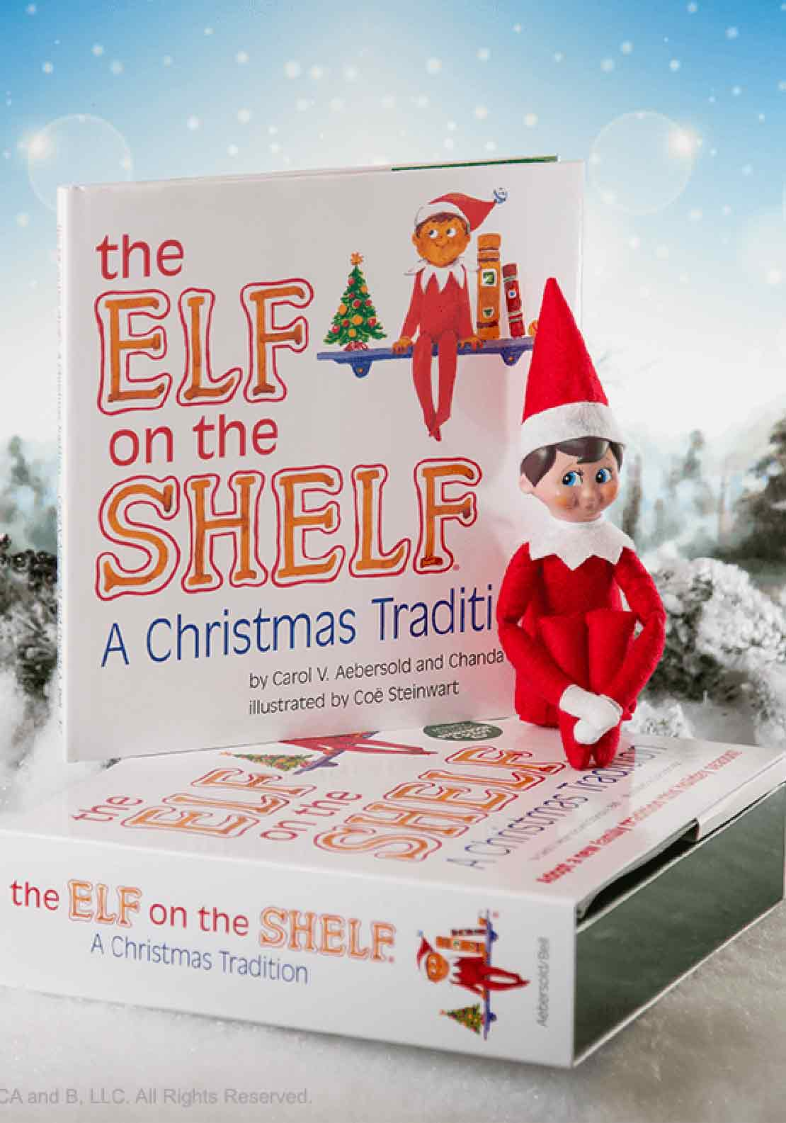 The Elf on the Shelf Story Book & Scout Elf