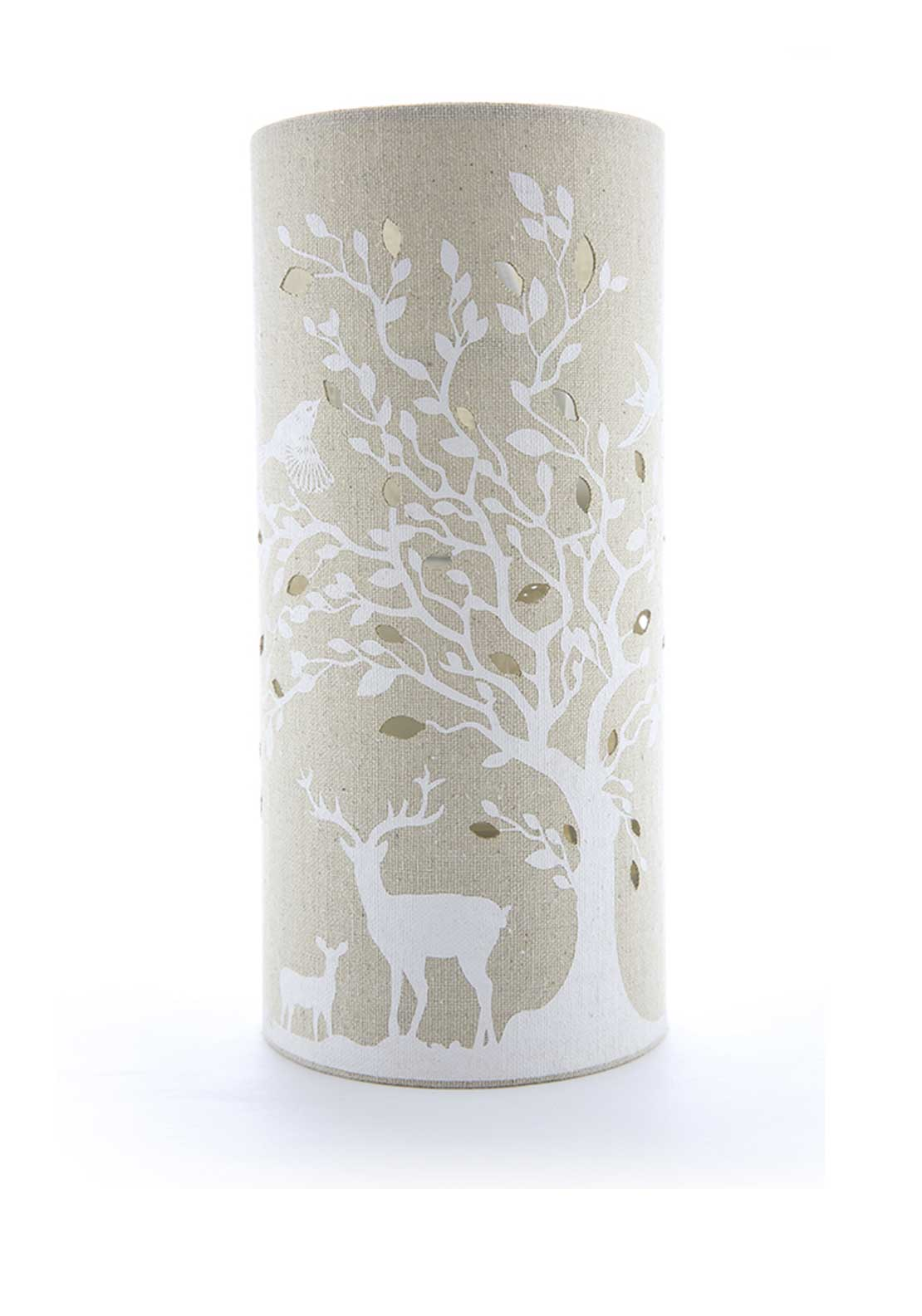 Light Glow Deer & Birds Canvas Lamp