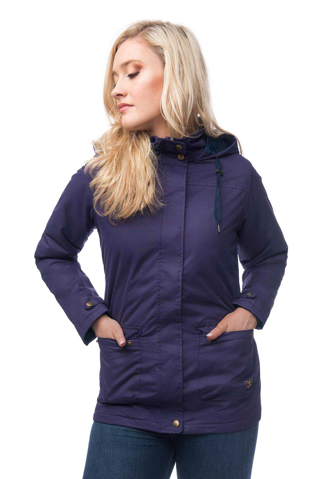 Lighthouse Alyssa Waterproof Hooded Jacket, Purple