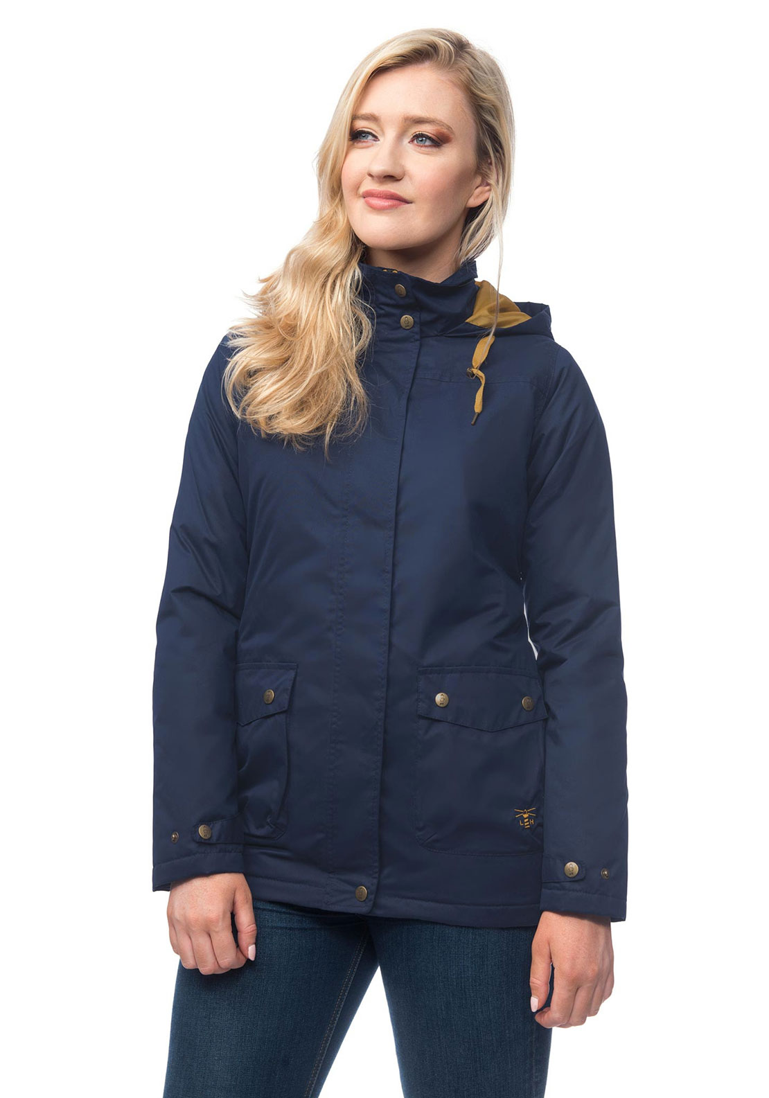 Lighthouse Alyssa Waterproof Hooded Jacket, Navy