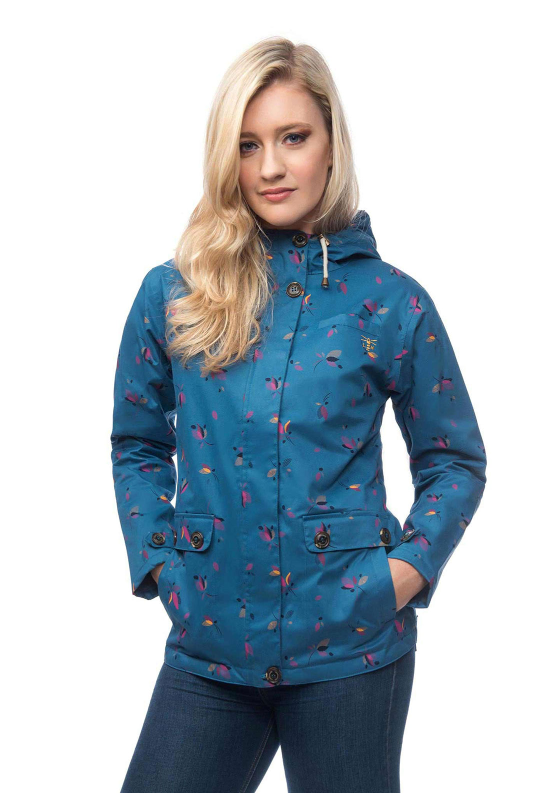Lighthouse Siena Printed Waterproof Jacket, Blue