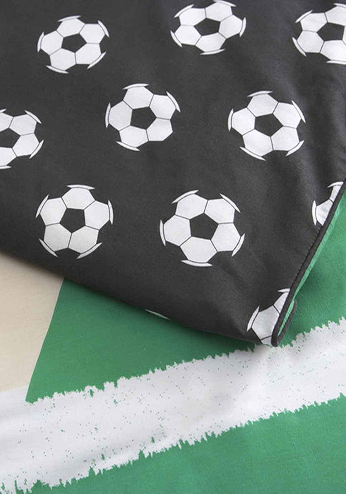 Linen House When I Grow Up Football Star Single Fitted Sheet Set, Black