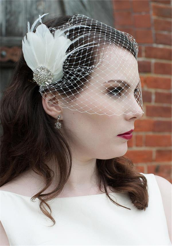 Lilly Bella Mini Amelia Feather Headpiece