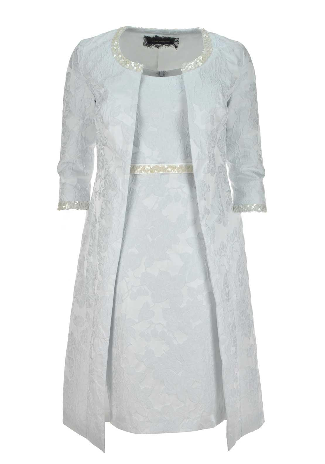 Linea Raffaeli Embellished Dress and Coat, Ice Blue