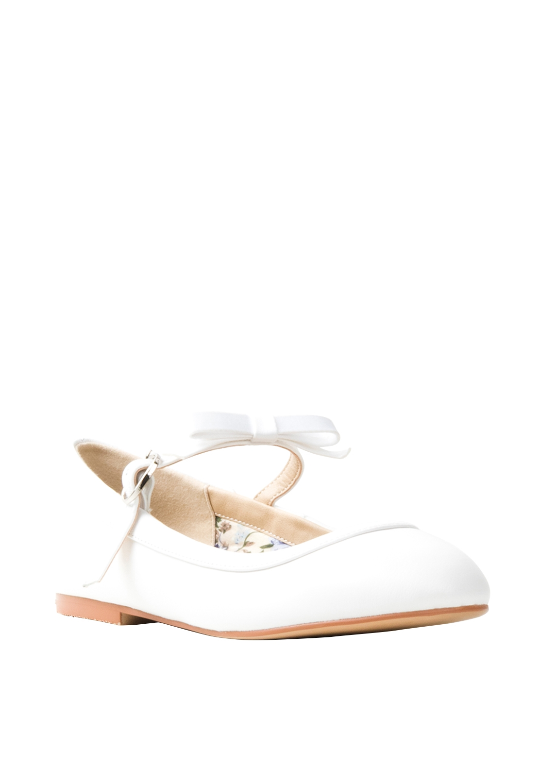 Perfect Kids Sophie Leather Communion Shoes, White