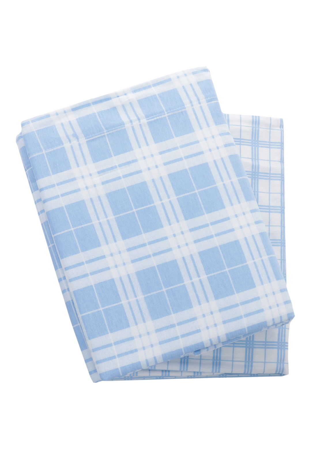 Loomcraft Quebec Blue Checked Sheet Set
