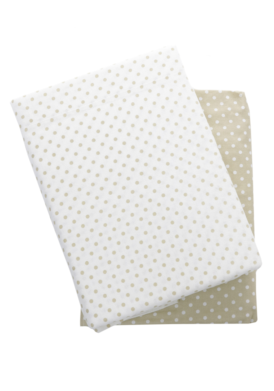 Loomcraft Dots Wheat Flannelette Sheet Set, Cream