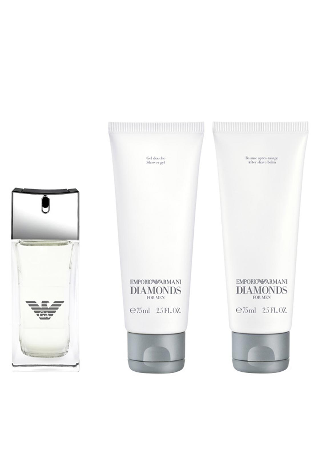 Emporio Armani Diamonds Eau De Toilette for Men Gift Set, 50ml