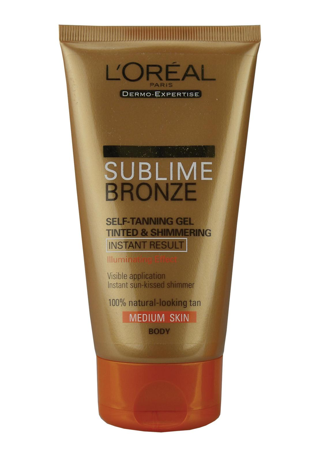 L'Oreal Sublime Bronze Self-Tanning Body Gel, Medium Skin