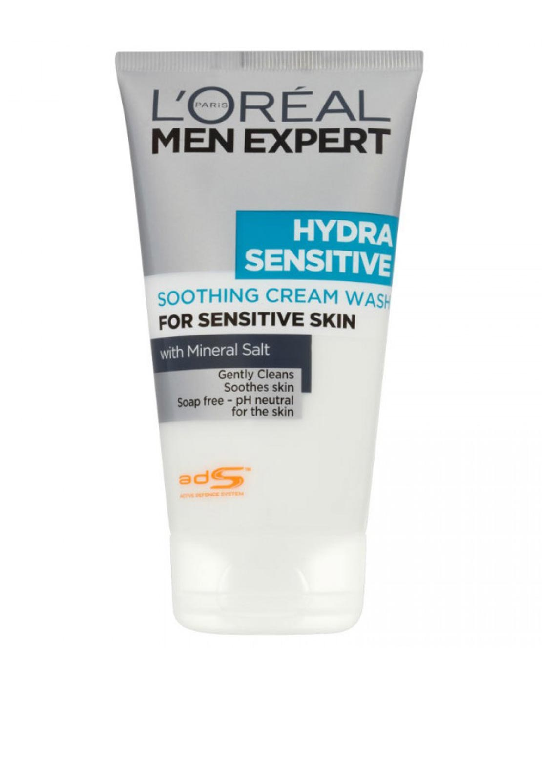 L'Oreal Men Expert Soothing Cream Wash for Sensitive Skin, 150ml