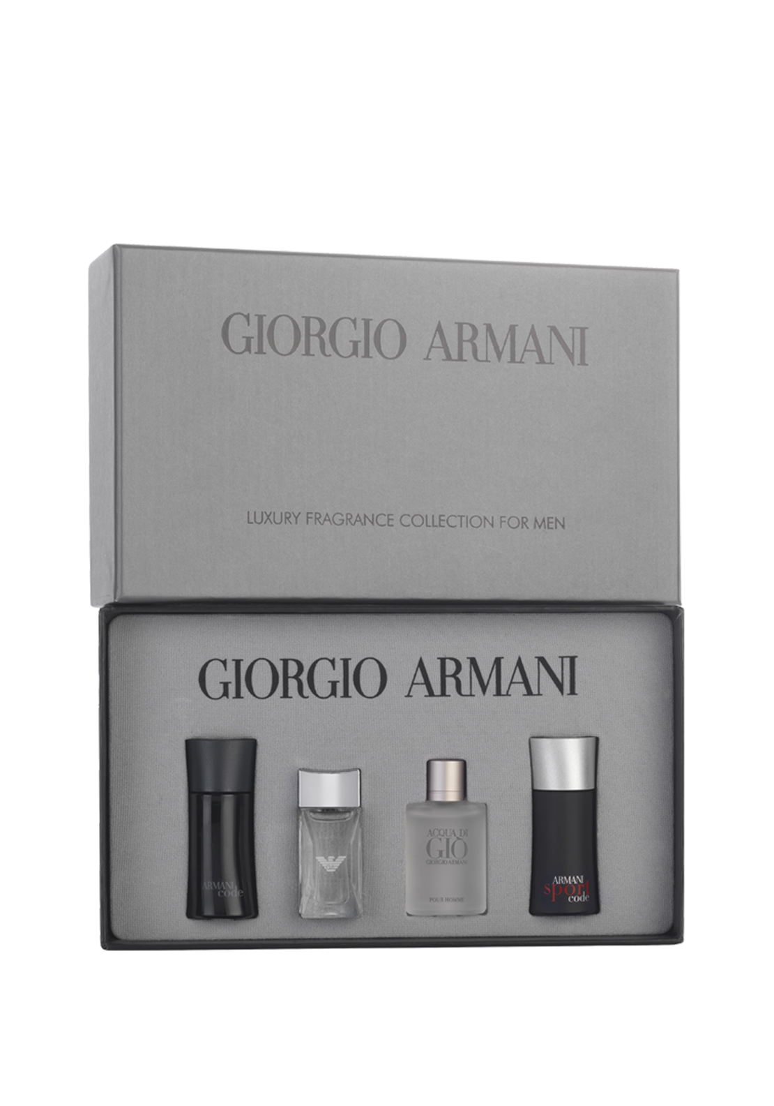 Giorgio Armani Mens Mini Aftershave Collection