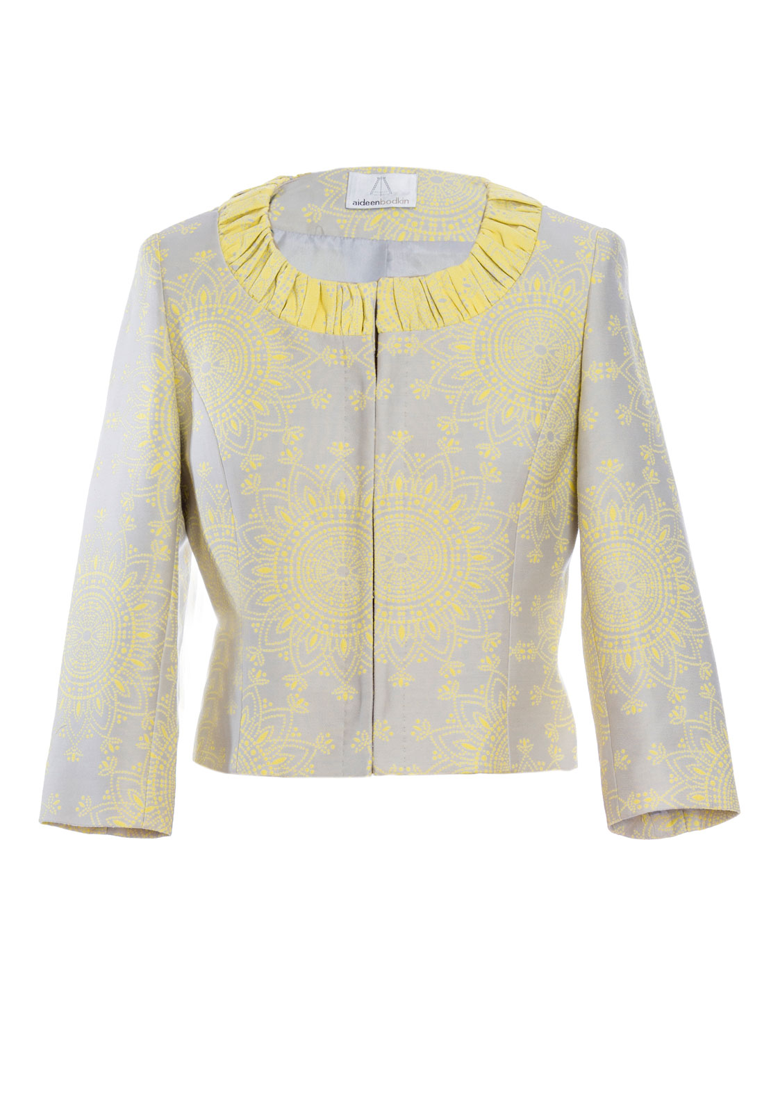 Aideen Bodkin Lotus Floral Jacket, Yellow