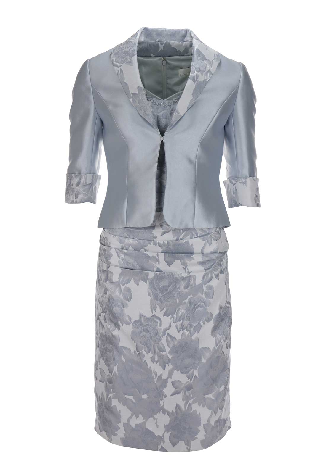 Latelier Occasionwear Dress and Jacket, Silver