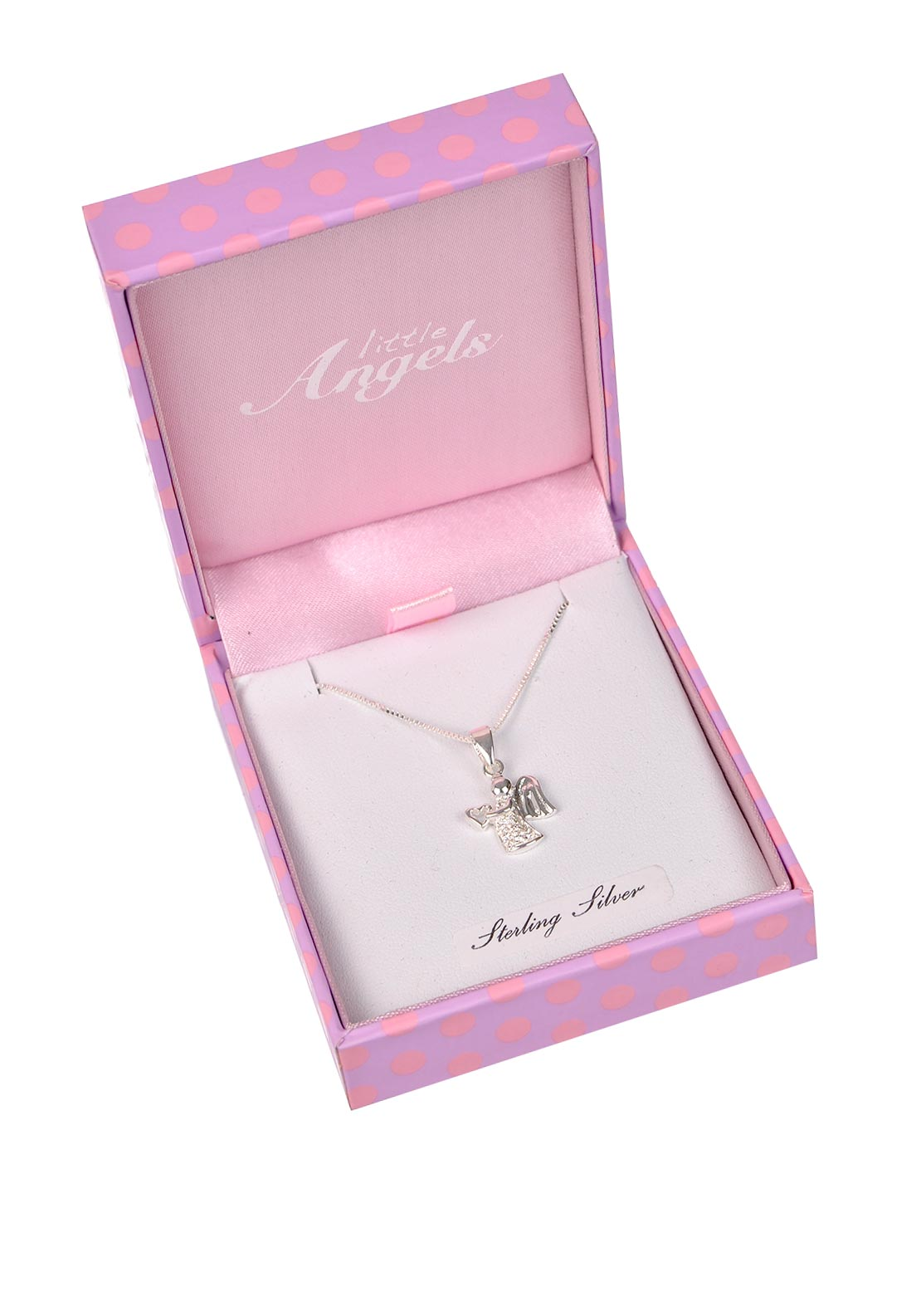 Little Angels First Holy Communion Angel Pendant Necklace, Silver
